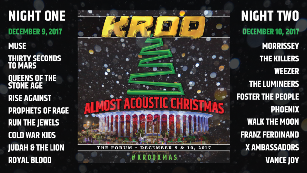 «KROQ Almost Acoustic Christmas 2017»: лайн-ап концерта