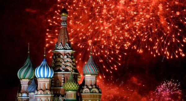 Салют на Новый год 2019 в Москве картинки
