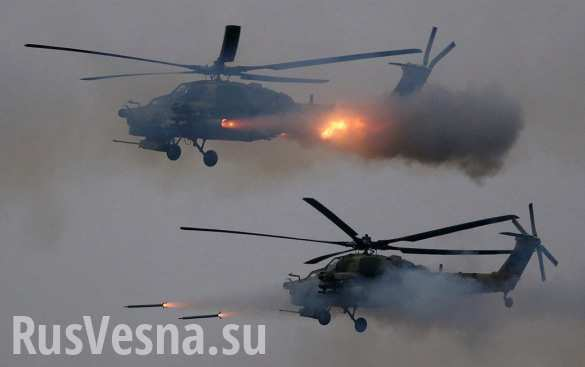 Newest Russian combat helicopter attacked militants in Syria for the first time (VIDEO)